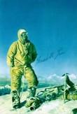 Pohlednice s podpisem jednoho z prvovýstupců z roku 1954