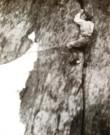 Mummery ve spáře na štítu Grépon, která dnes nese jeho jméno (foto: Lili Bristolová, 1893)
