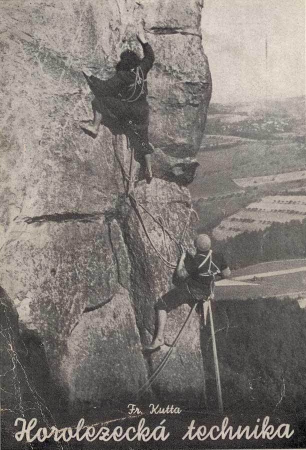 ... Horolezecká technika na cvičných skalách  česká brožura z poválečných  let bc0d559d638